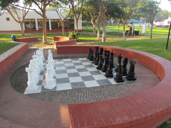 Hotel Las Dunas: The Chess board life size