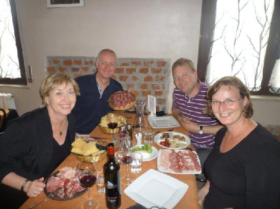Trattoria Hoste : All the antipasti - quite a lot of food.