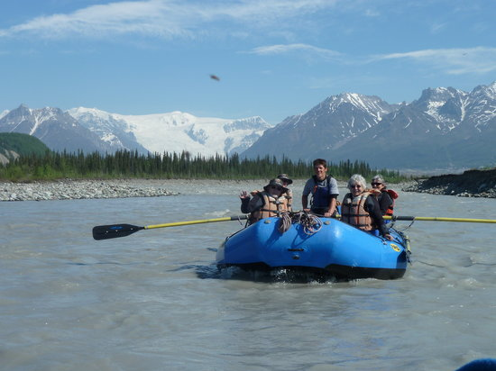 McCarthy, AK : Raft  on river