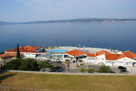Selce, كرواتيا: Uitzicht van uit het hotel