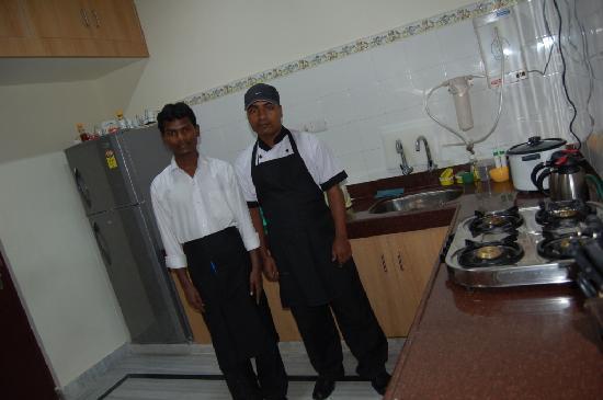 Gardenia Service Apartments: Kitchen & Staff