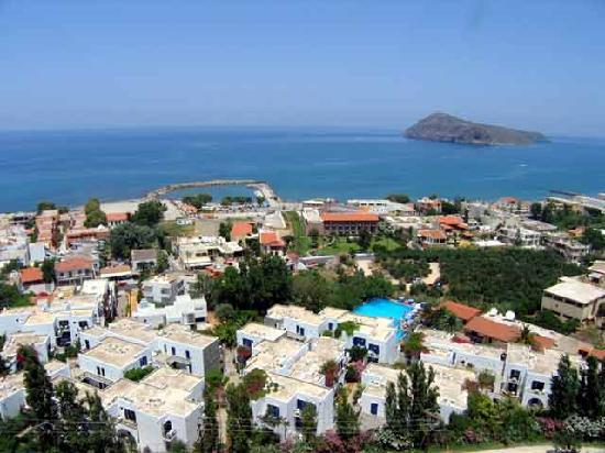 Platanias, Hellas: udsigt fra astrea resturant