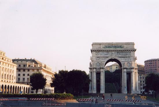Genoa, Italy: Piazza della Vittoria, Genova, Italy