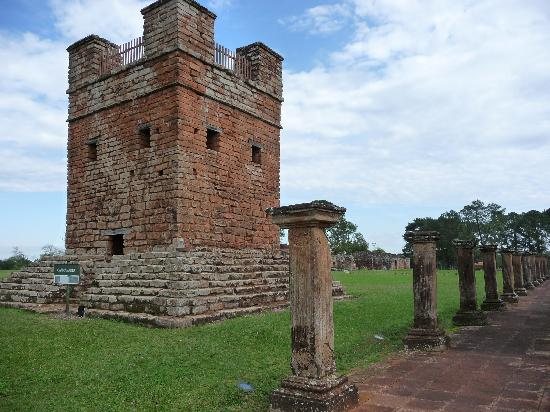 La Santísima Trinidad de Paraná: Turm mit schönem Blick