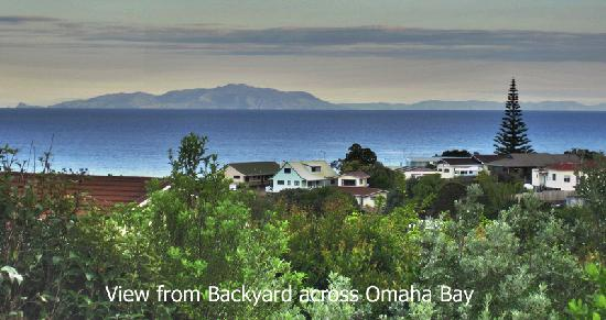 Discover Goat Island Bed & Breakfast: View from back to Coromandel