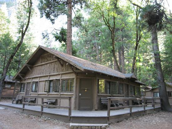 Cabins in the woods of curry village picture of half for Curry village cabins yosemite