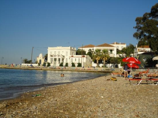 The beach outside Villa Marina