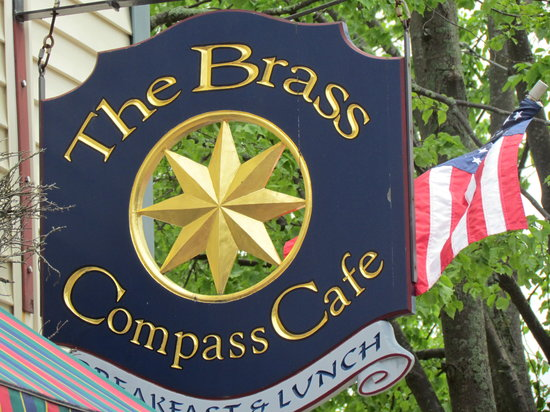 Brass Compass Cafe : Sign