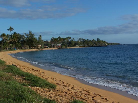Kauai, HI: the beach behind our resort