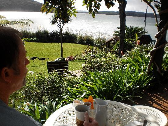 Waters Edge Holiday Accommodation: Breakfast view