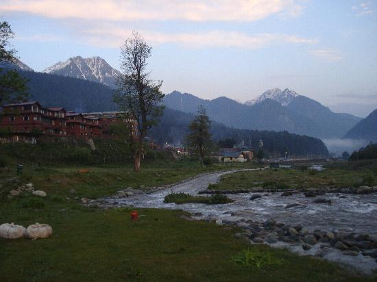 view from my hotel room in pahalgam