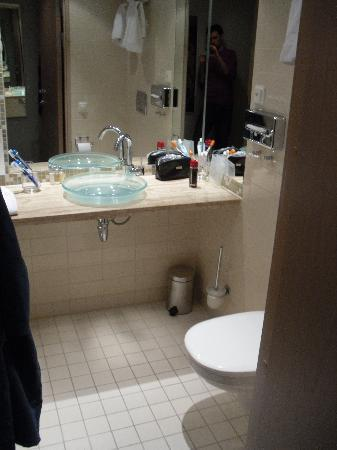 Clarion Hotel Sign: Stanza moderate/economy - bagno (a sinistra c'è il vano doccia)