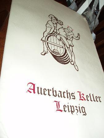 Auerbachs Keller Leipzig: Auerbachskeller Speisekarte