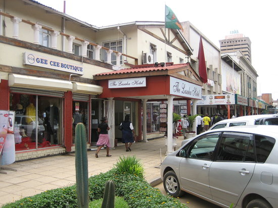 The Lusaka Hotel: Entrance from Cairo Road