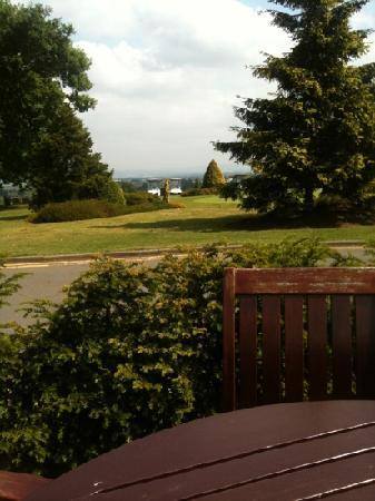 Tewkesbury Park: view from outside bar area