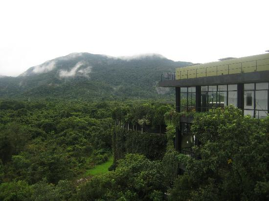 Heritance Kandalama : The hotel is literally situated in the middle of the mountain