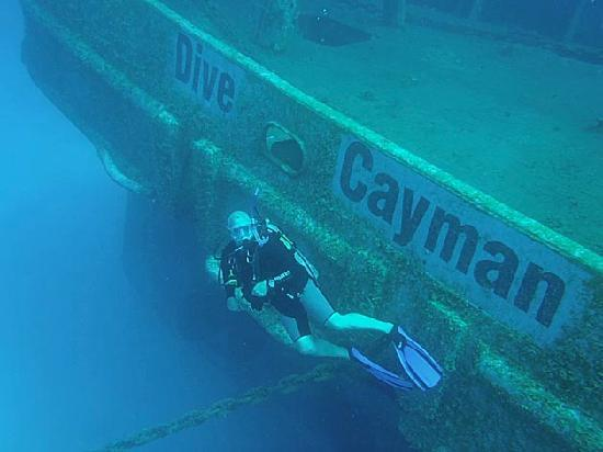 Dive Grand Cayman USS Kittwake Picture of Living The Dream