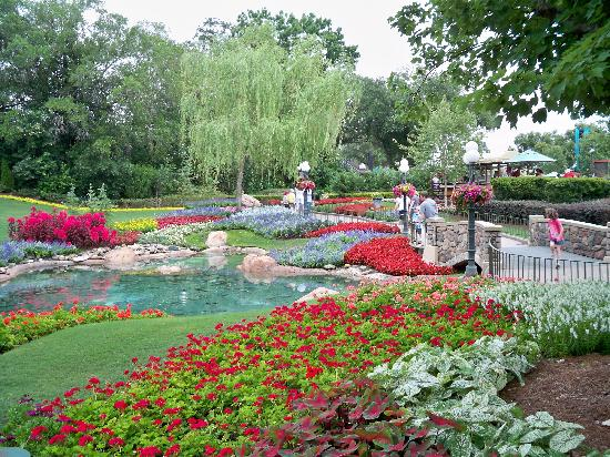 Epcot: Gardens at the Canada pavillion--one of the prettiest areas in any of the parks