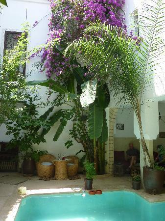 Riad Tawanza: Le patio... frais et reposant