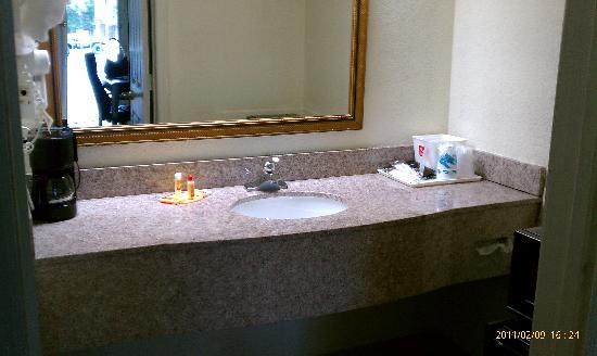 Econo Lodge Beaufort: A lot of vanity space