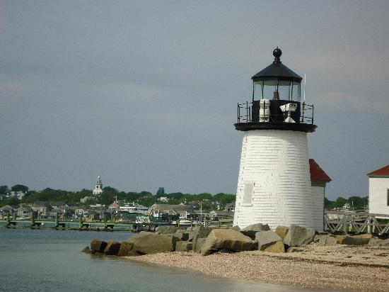 Ναντάκετ, Μασαχουσέτη: Brandt Point Lighthouse welcomes you to Nantucket.