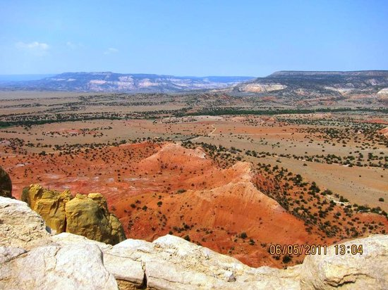Outspire Hiking and Snowshoeing: View from trail at Ghost Ranch