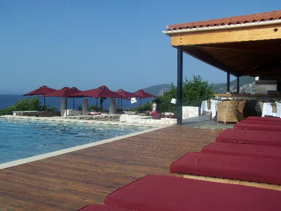 Fiscardo, Greece: Pool/restaurant Area