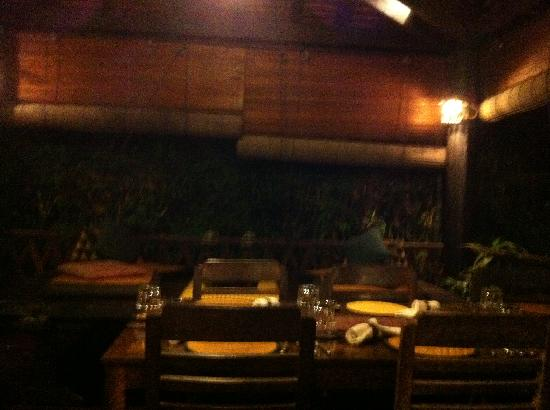 The Sugar Palm: Dining Area (note the Khmer low table)