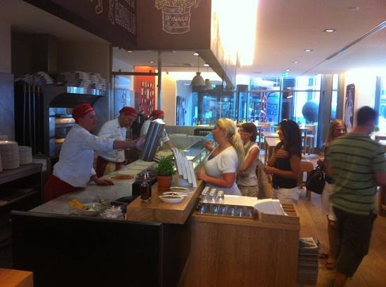 Vapiano: the pasta, pizza, and salad lines