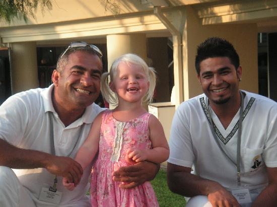 Otium Hotel Seven Seas: Ekrem and Berat, two of the amazingly nice spa staff along with our daughter Elin.