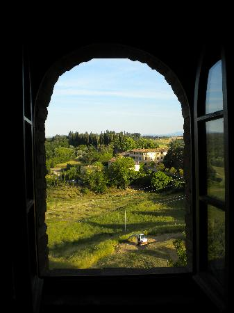 Castello di Monteliscai: view from room 1