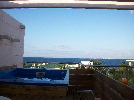 Beloved Playa Mujeres: view from our casita