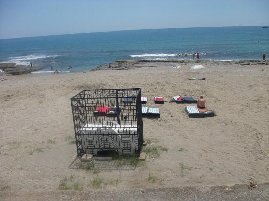 Monart Luna Playa Hotel: The Beach and the beds in the cage