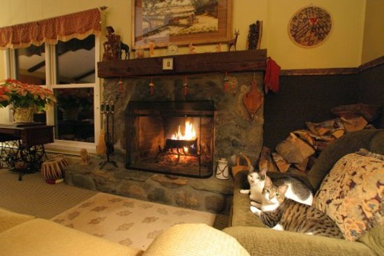 Weathertop Mountain Inn: Warm & Cozy Fire