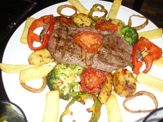 Pasha: steak!