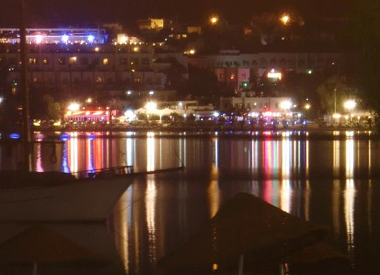 Tropicana Beach Hotel: View across the bay from the bar at night.