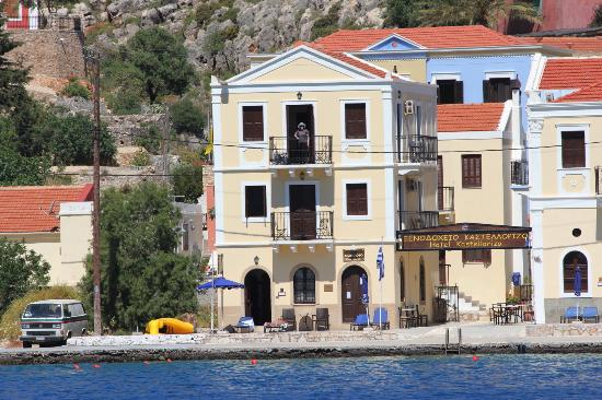 Hotel Kastellorizo: Front of the Hotel on the harbour foreshore