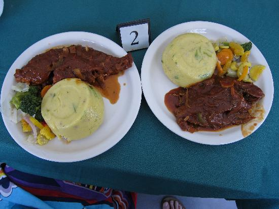 Tranquility Bay Antigua: Jolly Castle restaurant local fish and funge