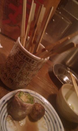 Kushiwakamaru: Cup for the cleaned out Yakitori sticks