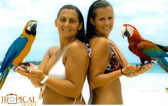 IFA Villas Bavaro Resort & Spa: tous les jours, il est possible de faire des photos avec des animaux différents