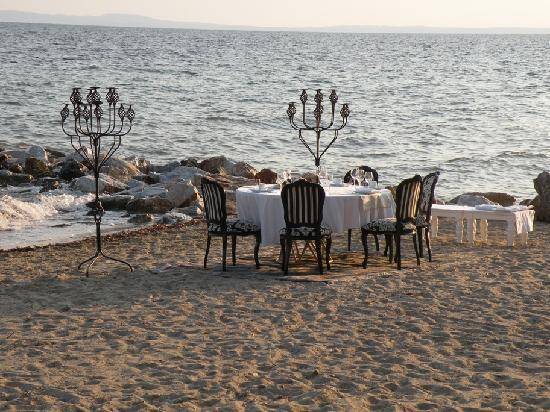 Danai Beach Resort: privat dinner