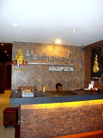 Hemingways Hotel Patong Beach: Lazy Reception boy