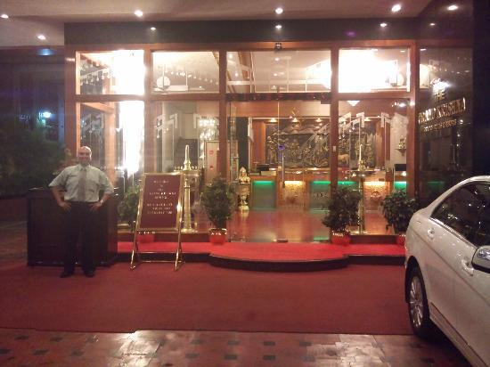 Entrance of Grand Krishna Rooms