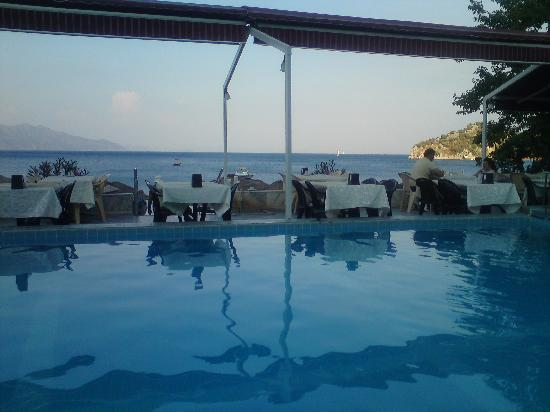 Oz-can Hotel: pool and sea