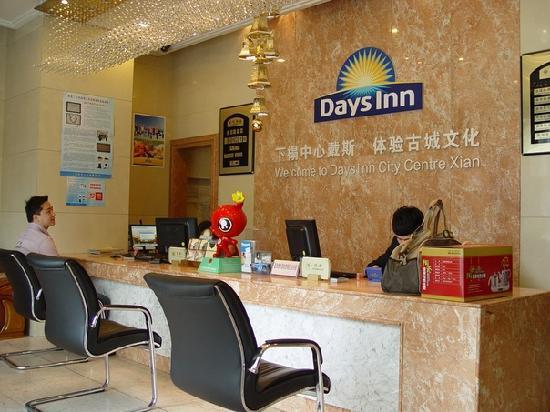Days Inn City Centre Xian: Hotel reception