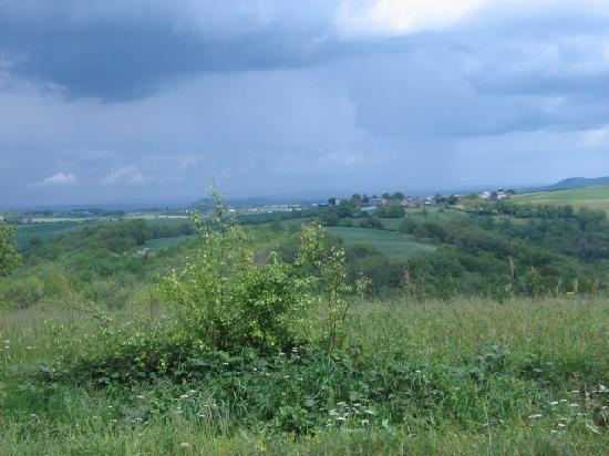 Chambre D'hotes La Croix D'helene : Vue de Pampelonne avant l'orage