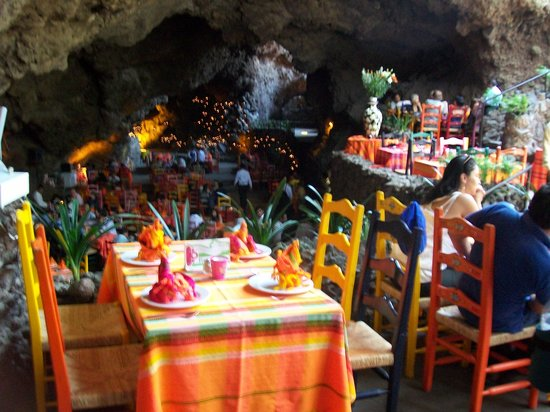 La Gruta Restaurant : View from Upper Dining Room