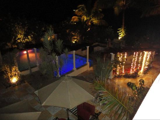 Blue Boy Inn: ...view of pool from terrace