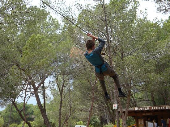 Beziers Adventure : This is the lowest zipwire!