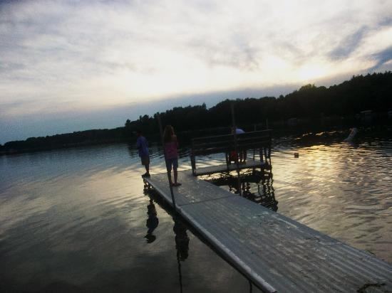 White Lake Beach Resort: The fishing is really great at Scharenberg's!